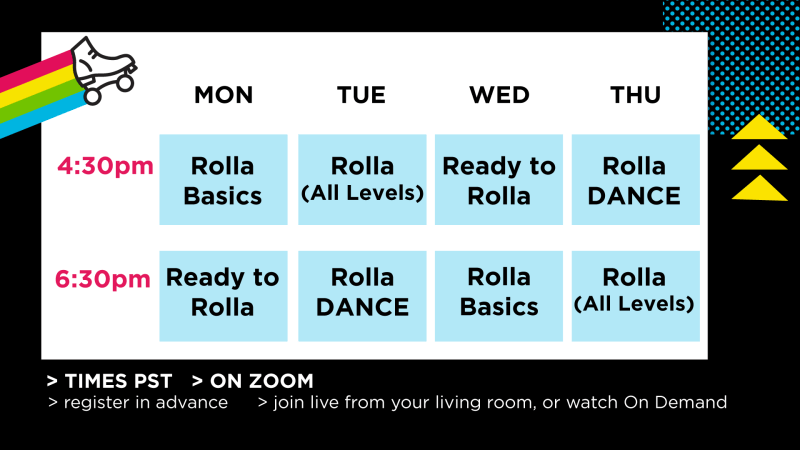 weekly virtual class schedule