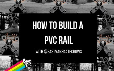 Turn anywhere into a skate park! Here's how to build a portable PVC rail.