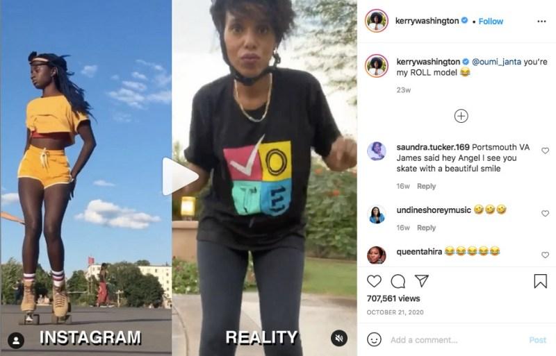 Kerry Washington Instagram vs Reality