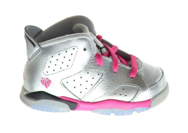 Jordan 6 Retro Bt Baby Toddlers Shoes Metallic Silver