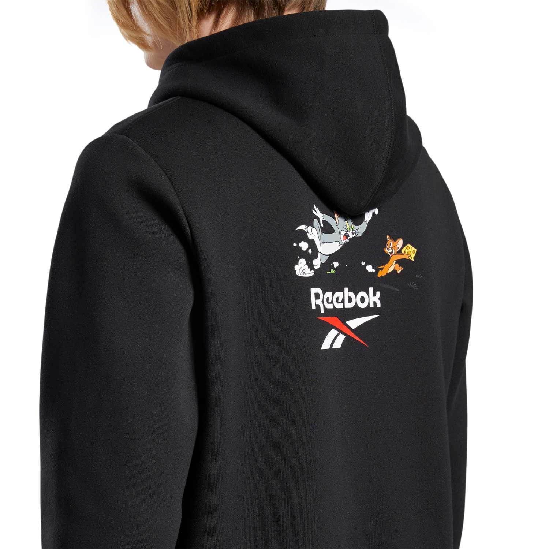 Reebok Men's Tom And Jerry Sweat Hoodie Black GJ0473   eBay