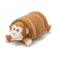 Brown Monkey Plush Pet Pillow with Blanket  Nap Mat Cover ...