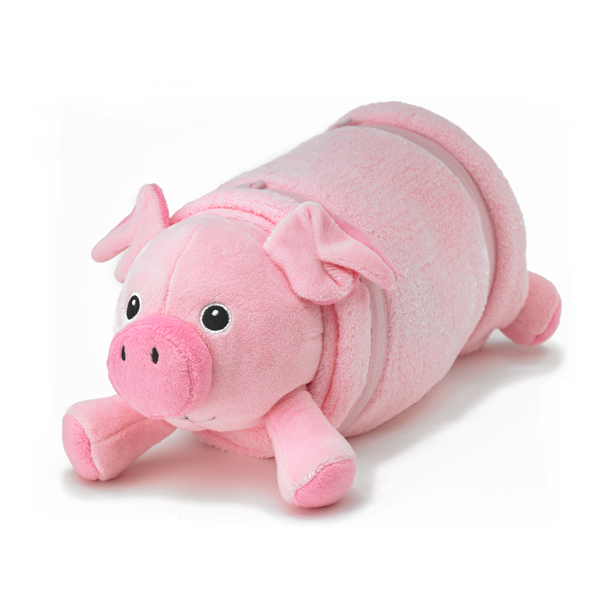 pink pig plush pet pillow with blanket