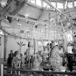 Gustave A. Dentzel Carousel at Pullen Park, Raleigh, NC © Jo Rierson Rolleiflex 3.5E type 1 Ilford HP5 Plus/ HC110- Dilution H
