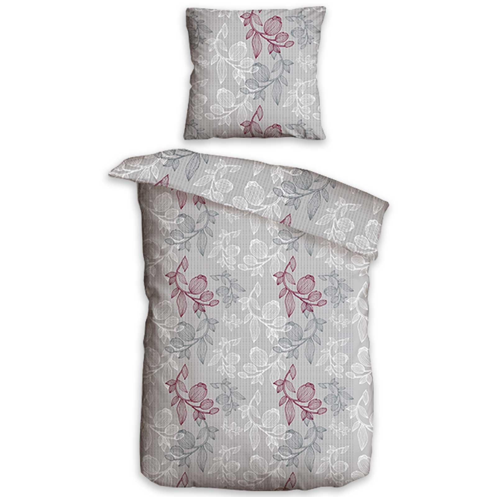 Bettwäsche 155x220 Mädchen Bettwäsche Blume Kissenbezug 40x60 Cm