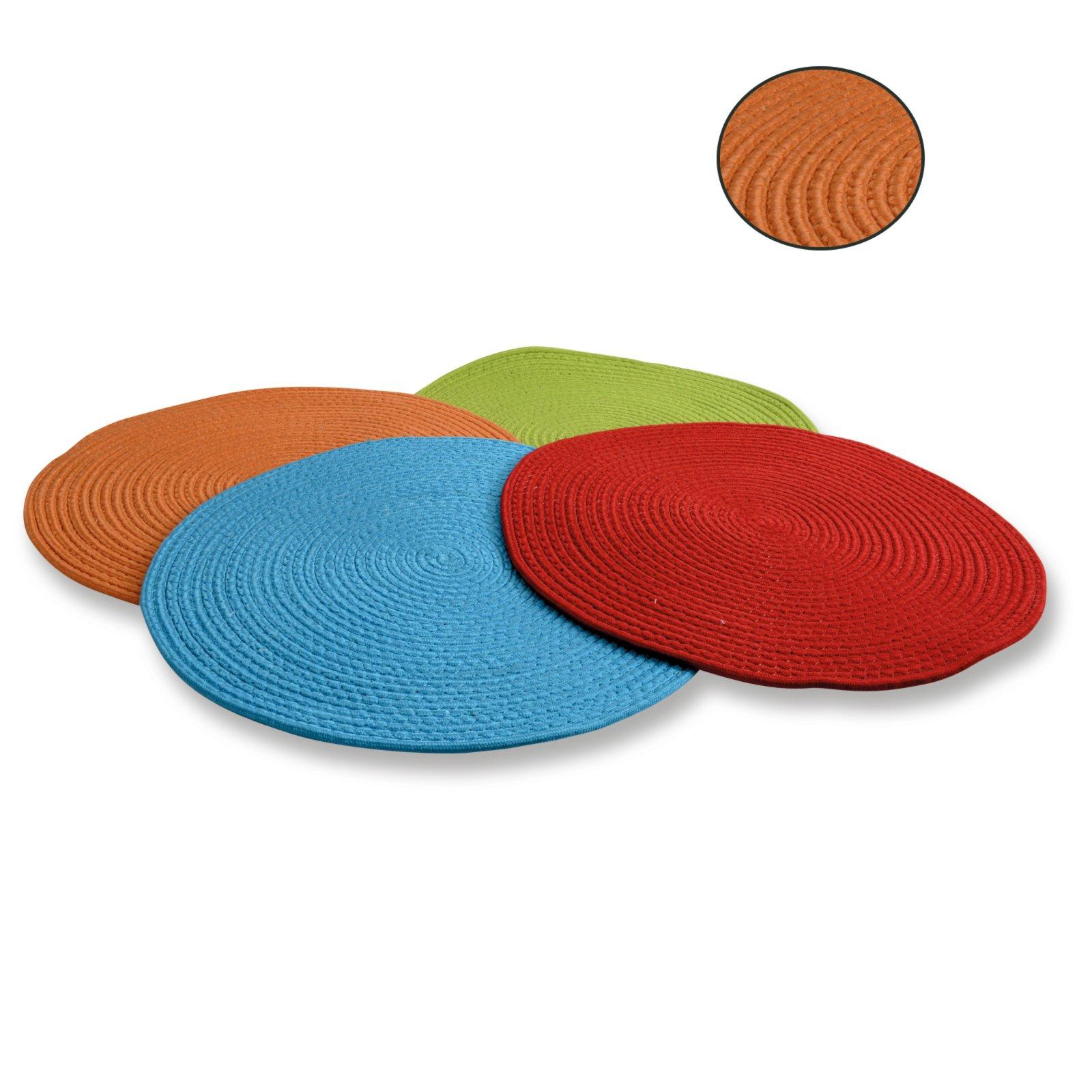 Roller Teppich  Orange  Rund  Druchmesser 60 Cm