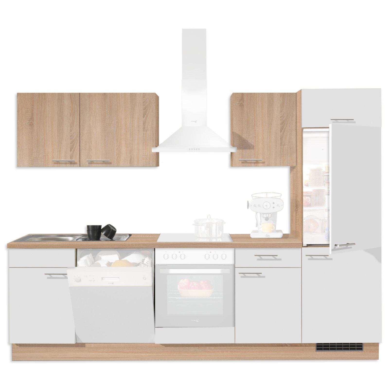 Küchenzeilen Ohne Kühlschrank Küchenzeile Leerblock 270 Cliff Ohne
