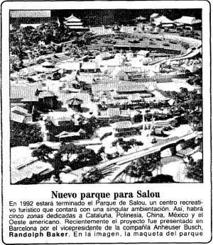 De geschiedenis van PortAventura: Maquette Parque Busch gepubliceerd in ABC.