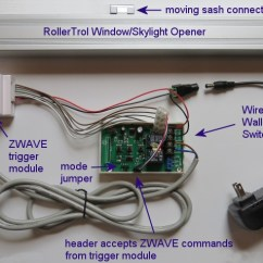 Velux Window Motor Wiring Diagram Advanced Origami Zwave Control For Openers Controller Opener