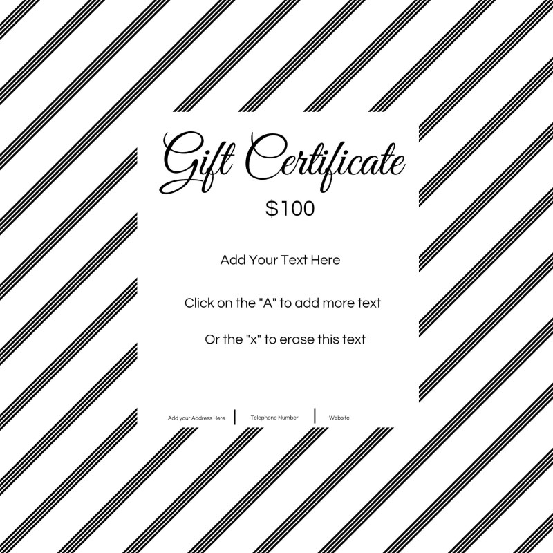 Mary Kay Gift Certificate Template