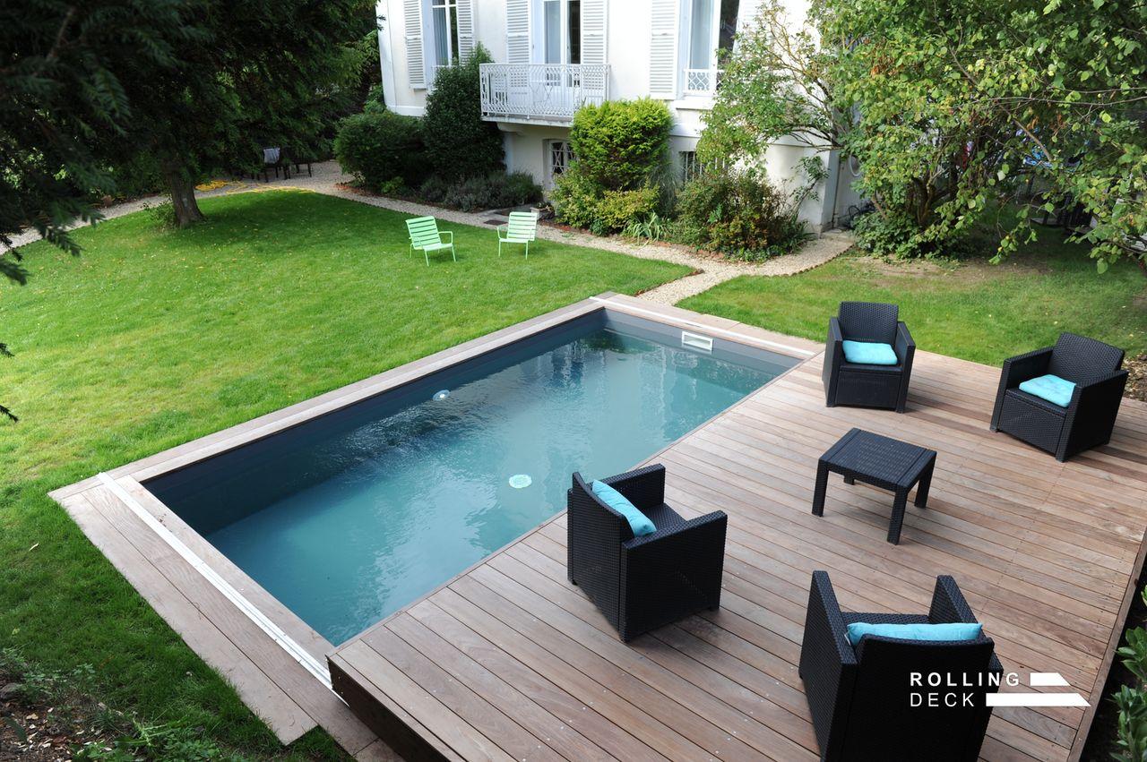 RollingDeck  La couvertureterrasse mobile de piscine et de spa
