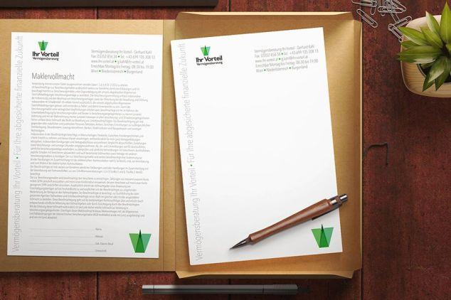 Briefpapier Grafikdesign