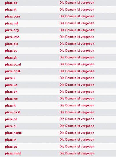 Domainwahl beispiel