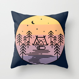 cute-camping-pillow-with-sunset