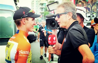 McCarthy interviewed by Tomalaris pre race