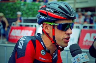 Richie Porte is interviewed before Stage 6