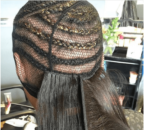 Sew in foundation with net (Photo credit: Markendia Geoffrard via Steed Media)