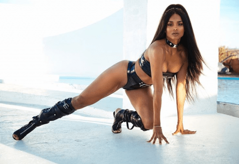 Ciara slays with risque poses in latex tights photos