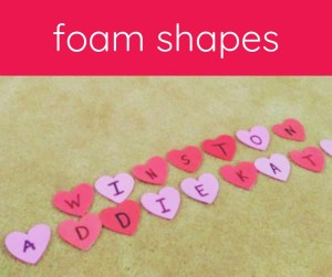 foam hearts on carpet