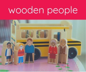 wooden play people