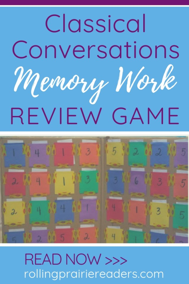 Classical Conversations Memory Work Review Game