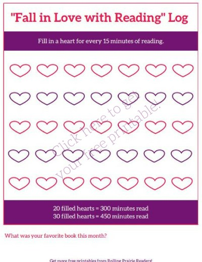 FREE Reading Log | Fall in Love with Reading!