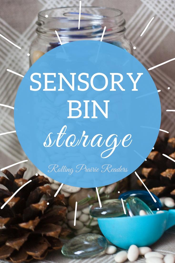 Sensory Bin Storage | organization tips for parents, how to store sensory materials, tactile activities for kids, sensory play ideas, sensory exploration