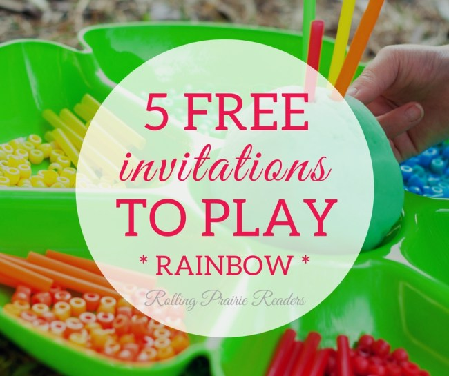 FREE Invitations to Play | rainbow-theme, activities for children, learning at home, St. Patrick's Day