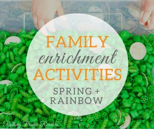Our Spring + Rainbow Activity Guide is for families with children ages 2-6 and includes more than 40 activities, featuring: math, science, literacy, art, and more!