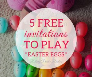 Five FREE Easter-Themed Activities for Toddlers and Preschoolers | invitations to play