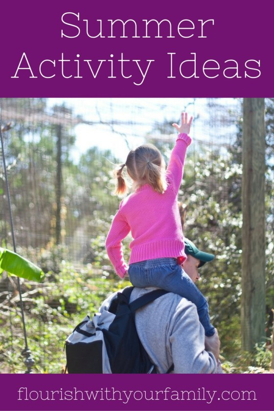 Summer Activity Ideas for Kids | 20 fun family time ideas, plus a sample summer schedule!