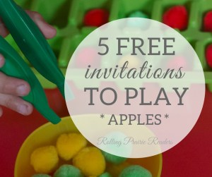 Five FREE Apple-Themed Activities for Toddlers and Preschoolers | invitations to play