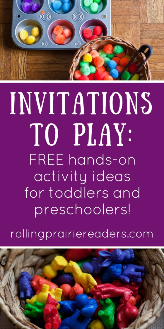 Invitations to play : easy, open-ended learning activities for toddlers & preschoolers that use materials found around the house | activity ideas for kids