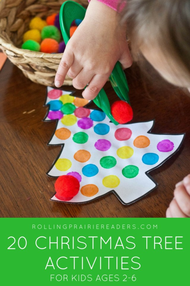 20 Christmas Tree Activities for Children Ages 2-6 | Christmas tree picture books, Christmas tree crafts, early literacy, early math