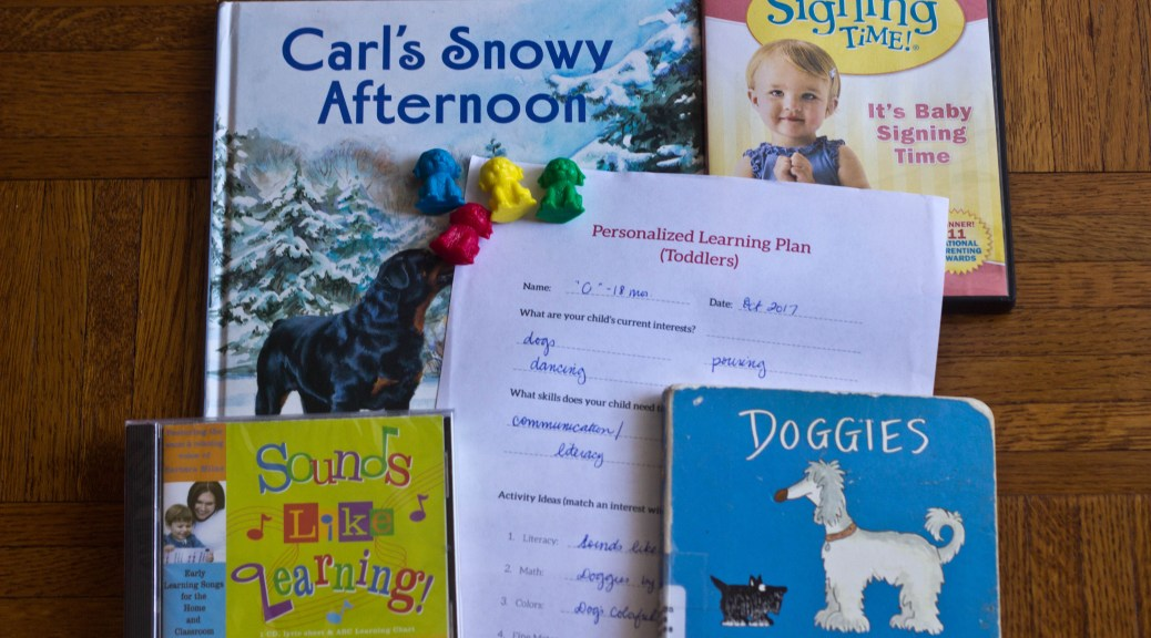 Personalized Learning Plan for 18-month-old | language skills, early literacy, fun toddler activities, dog learning activities