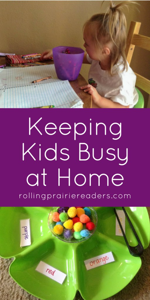 Keeping Kids Busy at Home | Fun ideas for your little ones to keep busy during summer or rainy days! Simple play ideas using pom poms, pipe cleaners, and popsicle sticks.
