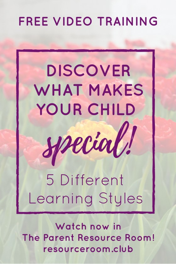 Discover what makes your child special with this free video training all about the 5 different learning styles! In less than 10 minutes, you can learn more about different modes of learning and explore our favorite learning style resources.
