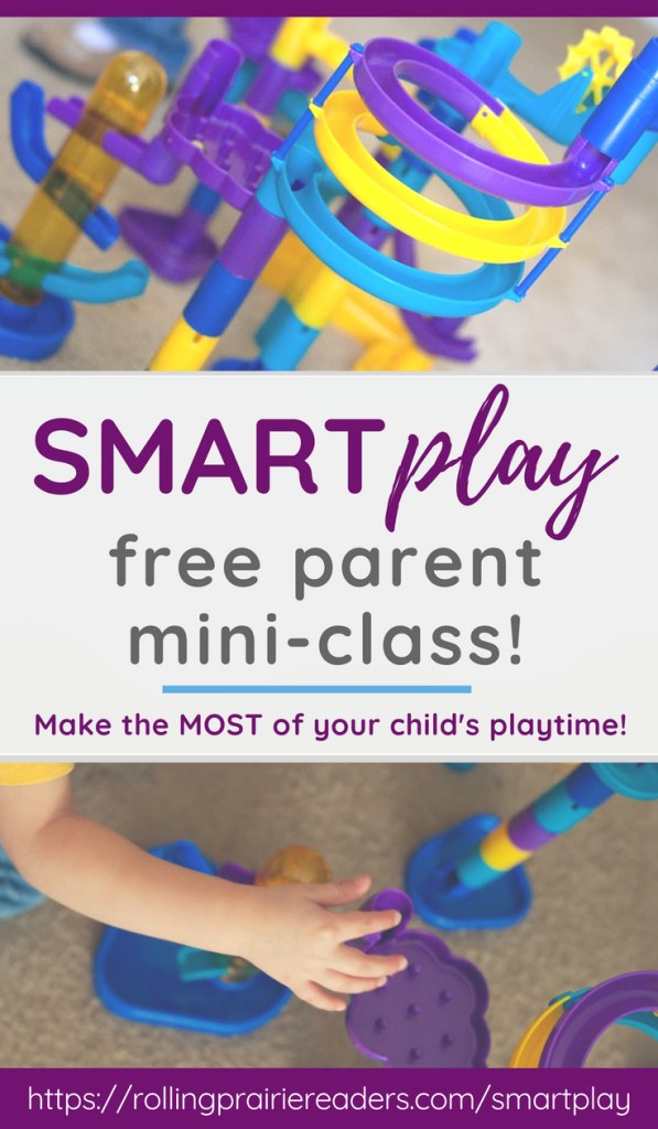 Picture of child playing with text: SMARTplay free mini-class for parents
