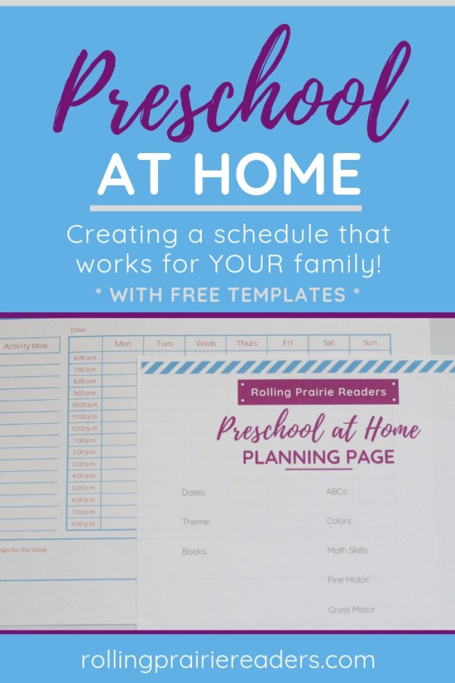 preschool at home | creating a schedule that works for your family!