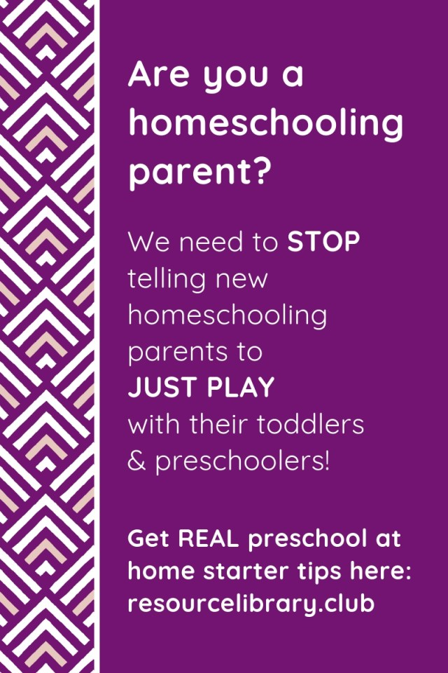 """There's more to homeschool preschool than """"just playing."""" Get your questions answered from a former classroom teacher."""