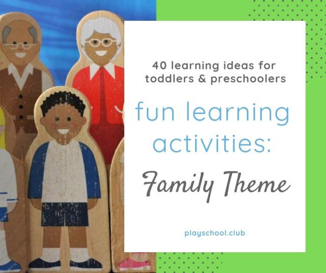 Family Themed Preschool Actiivties