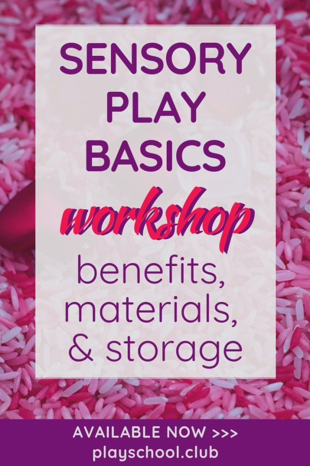 Sensory Play Basics Workshop
