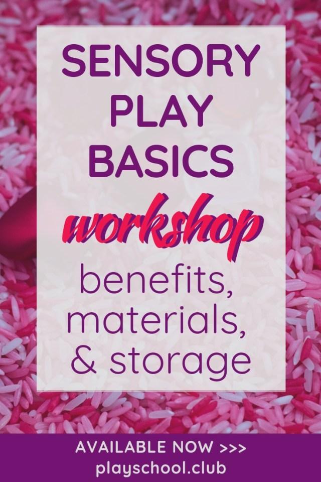 Sensory Play Basics Workshop