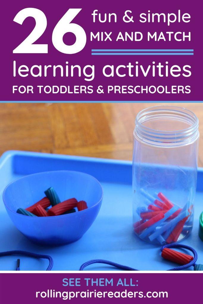 Mix and Match Preschool Activities