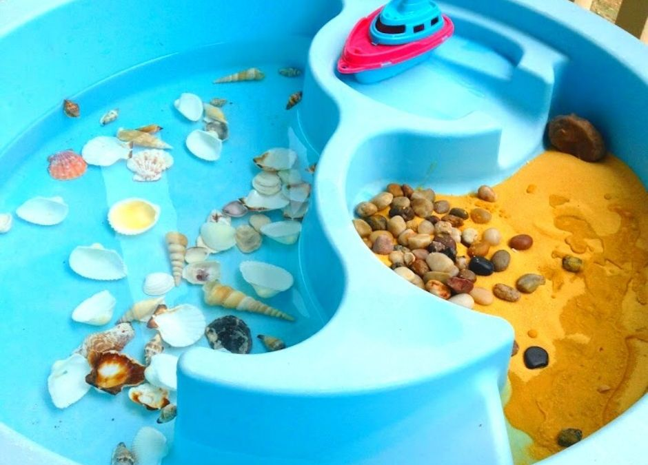 Beach Water Table for Sensory Play