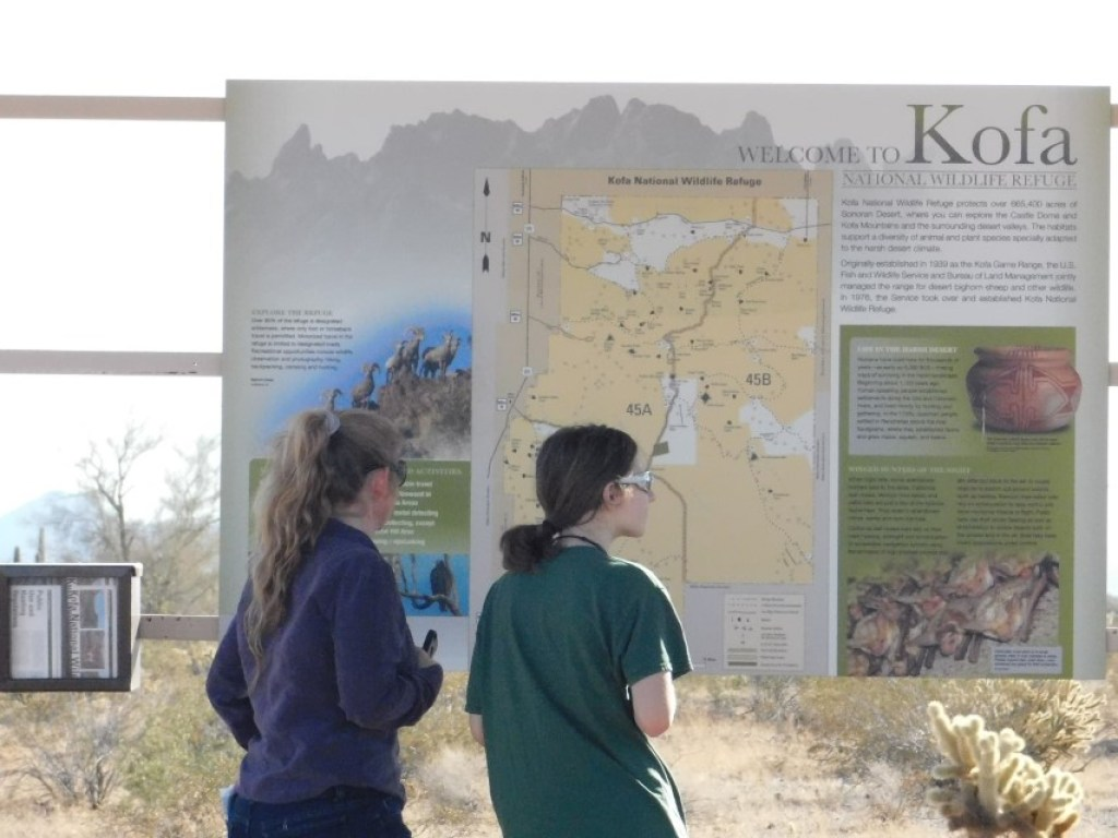 Map of Kofa Refuge