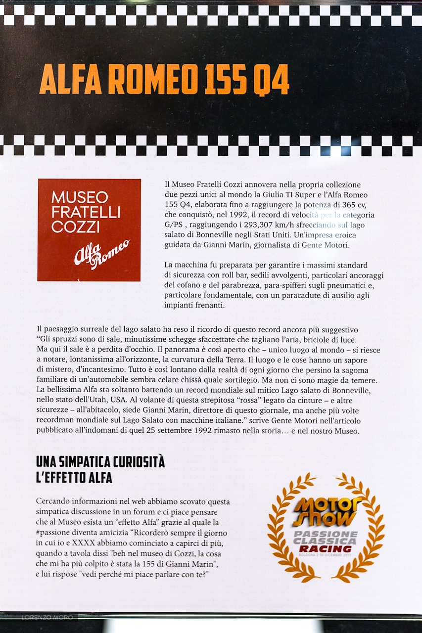 Alfa 155 locandina Motor Show