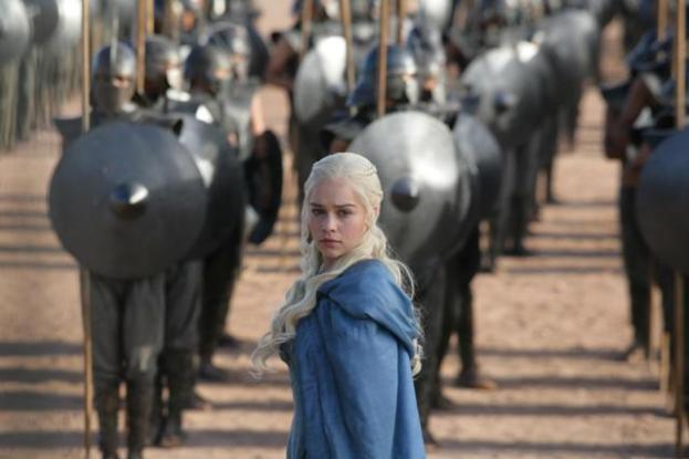 Emilia Clarke as Daenerys Targaryen in 'Game of Thrones' Photo: Keith Bernstein