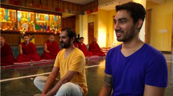 Sagar (right) with Sound Trippin' co-host Karsh Kale.