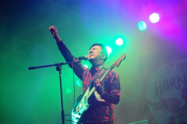 Dimapur band We The Giants' vocalist Kevi Pucho at Hornbill 2013 Photo: Danii Lee